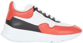 Alexander McQueen Leather Mid-Top Sneakers