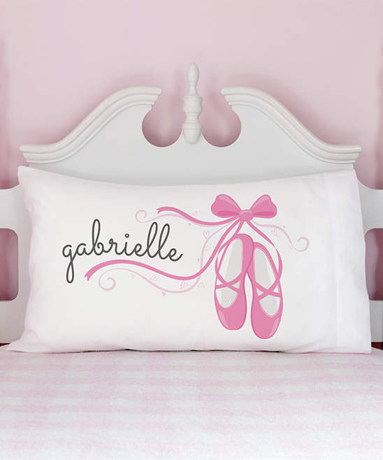 White Ballet Slippers Personalized Pillowcase