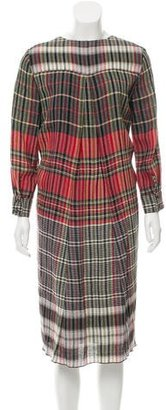 Thakoon Plaid Midi Dress