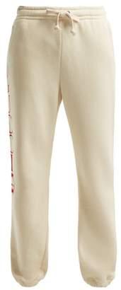 Gucci Logo Mid Rise Cotton Track Pants - Womens - Ivory Multi