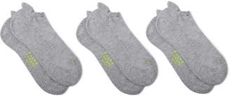 Falke Three-Pack Cool Kick Knitted No-Show Socks - Men - Gray