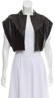 Steffie Christiaens Crop Leather Vest