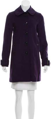 Burberry Wool Short Coat w/ Tags