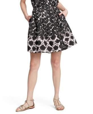 Thakoon for Target Women's Shibori Print Mid-Rise Button-Front A-Line Mini Skirt for Target Black/White