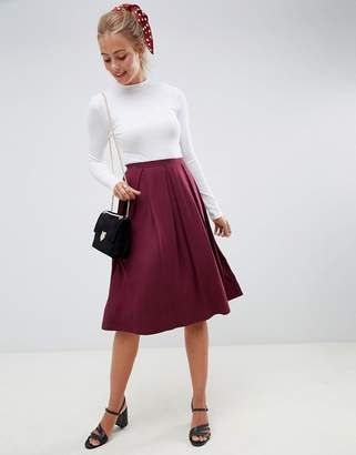 Asos DESIGN midi skirt with box pleats