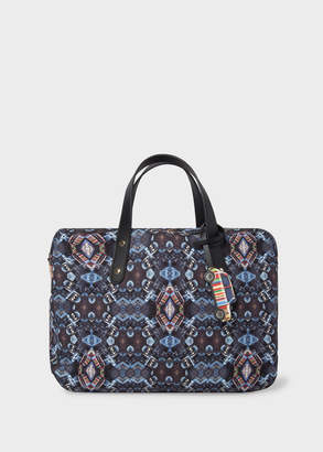 Paul Smith Men's 'Mini Kaleidoscope' Print Canvas Business Folio