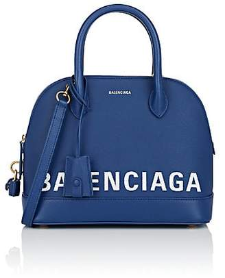 Balenciaga Women's Ville Small Leather Bowling Bag