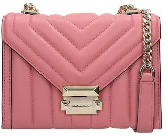 Michael Kors Pink Quilted Leather Bag