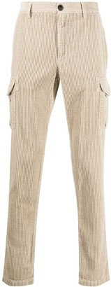 Eleventy cargo pocket corduroy trousers