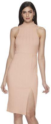 Women's Jennifer Lopez Luxe Essentials Mockneck Midi Dress $60 thestylecure.com
