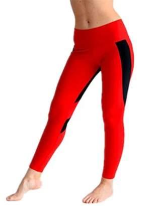 Lovaru Heart Print Women Slim Patchwork Long Legging Pants