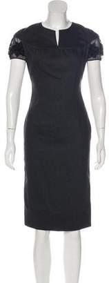 Blumarine Embellished Virgin Wool Dress