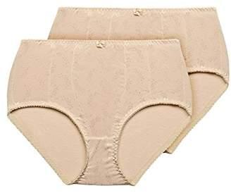 Exquisite Form Women's Medium Control Brief Panty(Pack of 2)