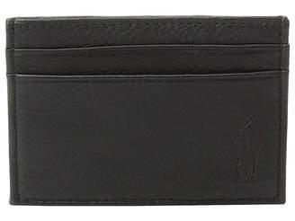 Polo Ralph Lauren Pebble Leather Card Case w/ Money Clip
