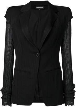 Ann Demeulemeester contrast sleeve fitted jacket