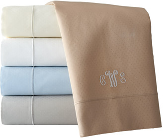 Sferra California King Marcus Collection 400 Thread-Count Dot Sheet Set