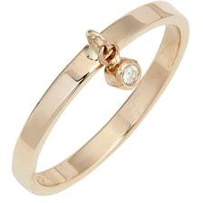 Poppy Finch Diamond Dangle Ring