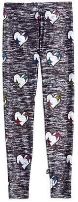 Terez Girls' Heathered-Print Heart Leggings - Little Kid