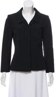 Chanel Wool Pointed Collar Jacket