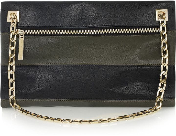 Victoria Beckham Two-tone leather shoulder bag