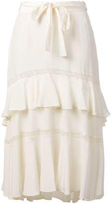 Zimmermann Lace-up midi skirt