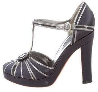 Devi Kroell Metallic T-Strap Pumps