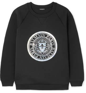 Balmain Printed Neoprene Sweatshirt - Black