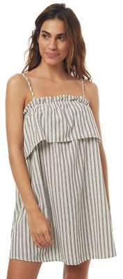 Swell New Women's Delta Stripe Ruffle Dress Cotton Linen