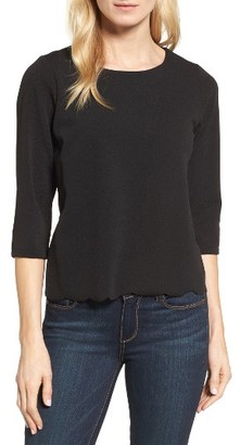Women's Bobeau Scallop Hem Top $49 thestylecure.com