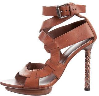 Bottega VenetaBottega Veneta Leather Platform Sandals
