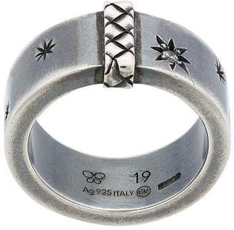 Bottega Veneta star engraved chunky ring