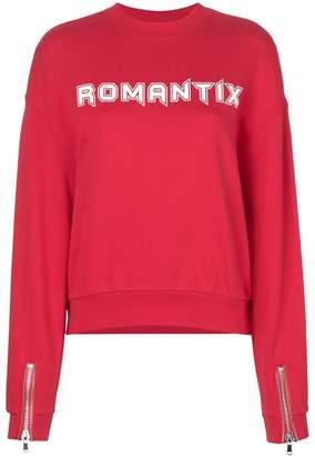 Zoe Karssen romantix print sweatshirt
