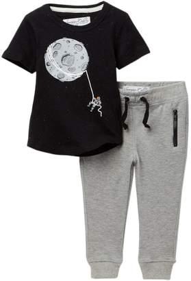 Sovereign Code Tie Up Moon Tee & Pants Set (Baby Boys)