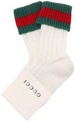 Gucci Knitted Cotton Socks