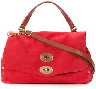 Zanellato stud detail satchel bag