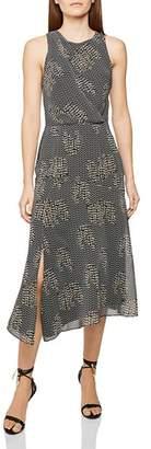 Reiss Naima Back-Cutout Midi Dress