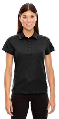 Ash City - North End Sport Red Ladies' Symmetry UTK cool?logik Coffee Performance Polo - BLACK 703 - M 78676