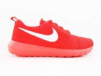Nike Women's Roshe One Flyknit Running Shoes-Gym /Bright Crimson-6.5