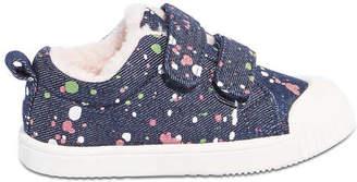 Joe Fresh Toddler Girls Velcro Denim Sneakers