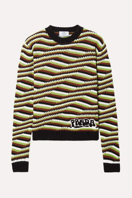 Prada Striped Cashmere Sweater - Brown