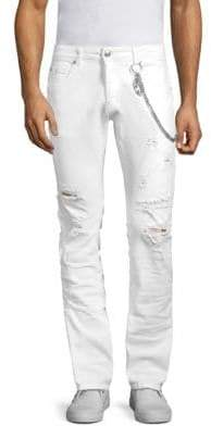 Pierre Balmain Distressed Slim Fit Jeans