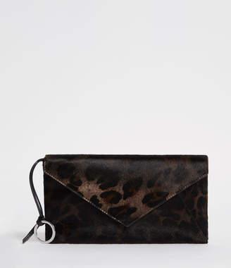 AllSaints Voltaire Leather Envelope Clutch