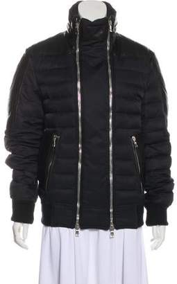 Balmain Leather-Trimmed Quilted Jacket