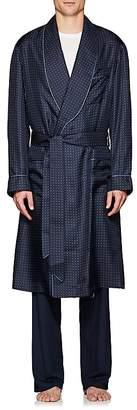 Barneys New York Men's Polka Dot Silk Twill Robe