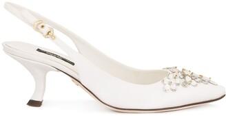 Dolce & Gabbana rhinestone-embellished slingback pumps