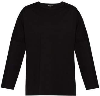 Y-3 Y 3 Striped Long Sleeved Cotton Jersey T Shirt - Mens - Black