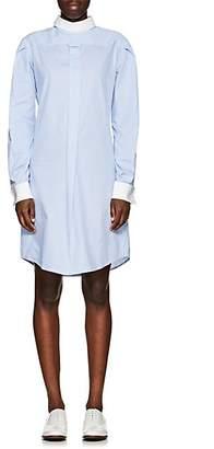 R 13 Women's Plaid Cotton Backward-Style Shirtdress - Blue Size Xs