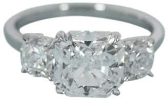 Tiffany & Co. 950 Platinum 4.16ct. Diamond Ring Size 6
