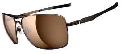 Oakley Plaintiff Squared Sunglasses in Dark Brown Chrome Bronze Polarised - OO4063 06 63 OO4063 06 63