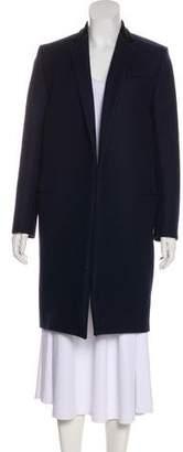 Celine Velvet-Trimmed Wool Coat